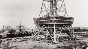 名古屋テレビ塔 白黒写真
